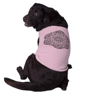 Doggie t-shirt with Mandala art PINK