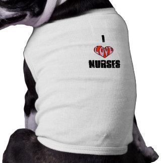 Doggie's love nurses shirt