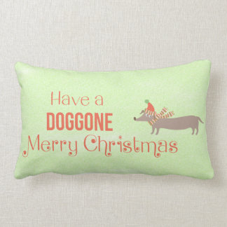 Doggone Merry Christmas Lumbar Pillow