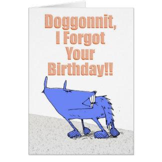Doggonnit Birthday Card