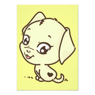 "doggy-635410 CUTE CARTOON PUPPY DOG DOGGY ANIMATIO 5"" X 7"" Invitation Card"