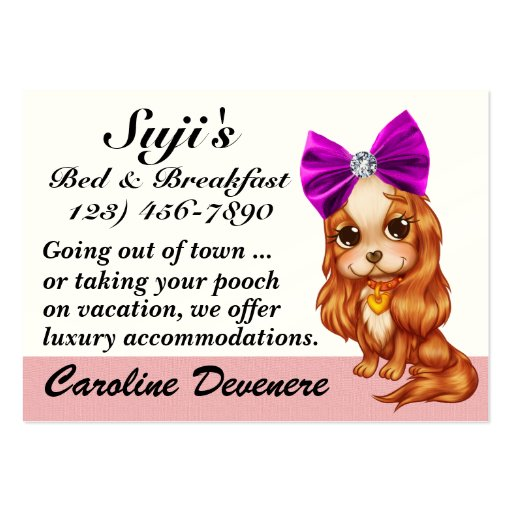Doggy Bed and Breakfast - SRF Business Card Templates
