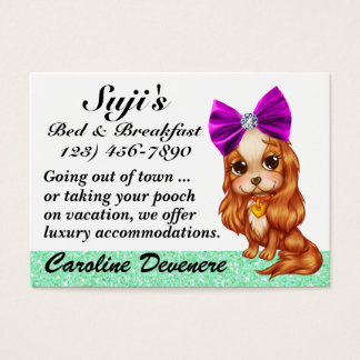 Doggy Bed and Breakfast - SRF Business Card
