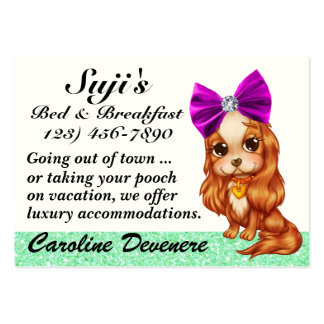 Doggy Bed and Breakfast - SRF Large Business Card