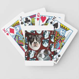doggy bicycle playing cards