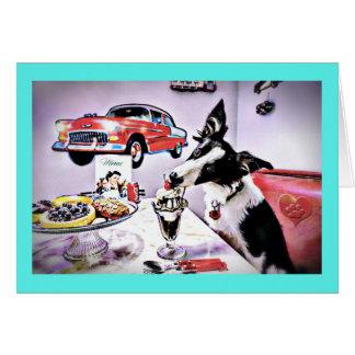 Doggy Diner Birthday Card