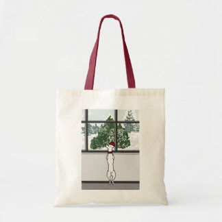 Doggy in the Window Christmas Tote