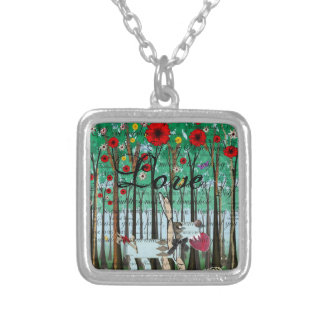 Doggy Love Silver Necklace