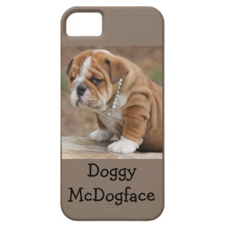 Doggy McDogface English Bulldog iPhone 5 Case