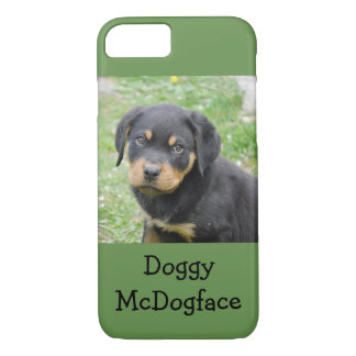 Doggy McDogface Rottweiler Puppy iPhone 7 Case