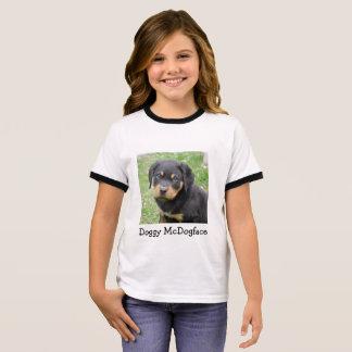 Doggy McDogface Rottweiler Puppy Ringer T-Shirt