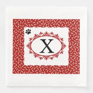 Doggy Monogram X Paper Dinner Napkin