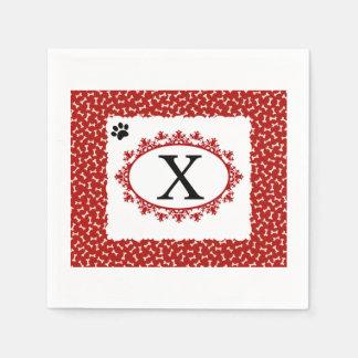 Doggy Monogram X Paper Napkin