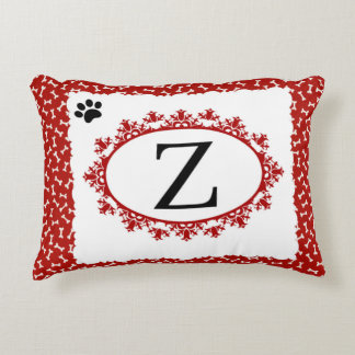Doggy Monogram Z Decorative Pillow
