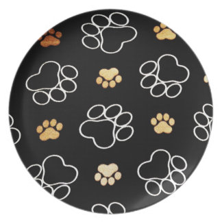 Doggy Paw Print Plate