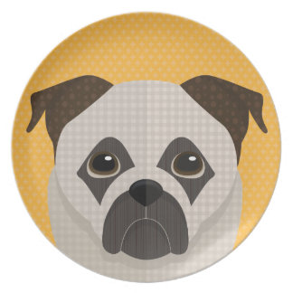 Doggy portrait plate