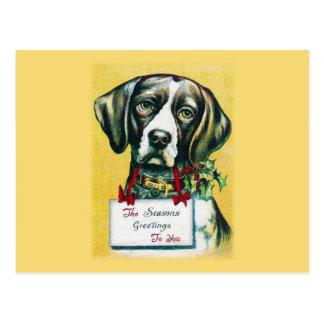 Doggy Season Greetings Postcard
