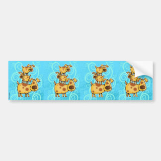 doggy stack scrapbook sticker bumper sticker