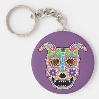 Doggy Sugar Skull keychain