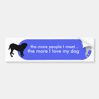"Dogism's ""True Love"" Blue Bumper Sticker"
