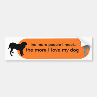 "Dogism's ""True Love"" Orange Bumper Sticker"