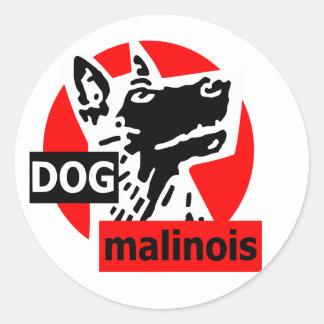 dogma red classic round sticker