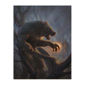 Dogman of Michigan Wood Print