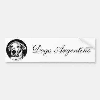 Dogo argentino bumpersticker bumper sticker
