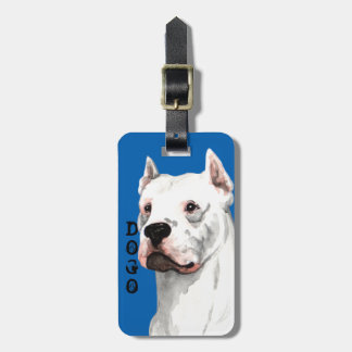 Dogo Argentino Color Block Bag Tag