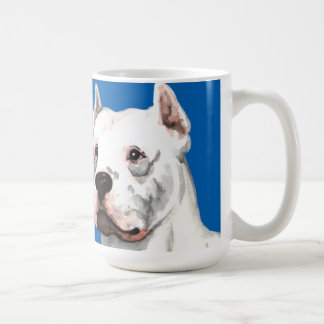 Dogo Argentino Color Block Coffee Mug