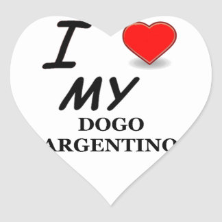 dogo argentino heart sticker