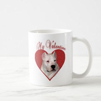 Dogo Argentino My Valentine Coffee Mug