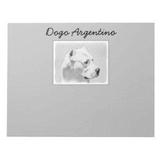Dogo Argentino Painting - Original Dog Art Notepad