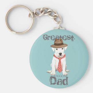 Dogo Dad Basic Round Button Keychain