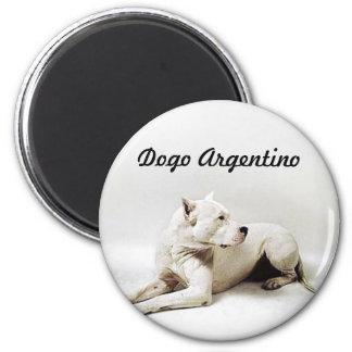 dogo, Dogo Argentino 2 Inch Round Magnet