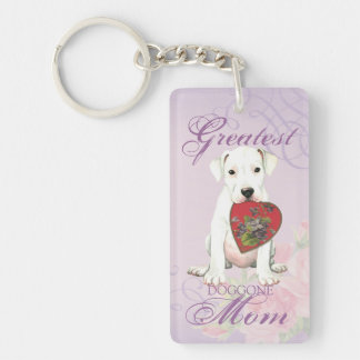 Dogo Heart Mom Double-Sided Rectangular Acrylic Keychain