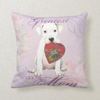 Dogo Heart Mom Throw Pillow