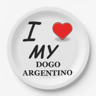 dogo love 9 inch paper plate