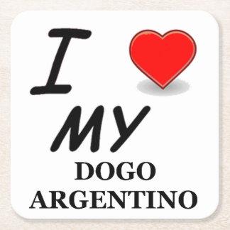 dogo love square paper coaster
