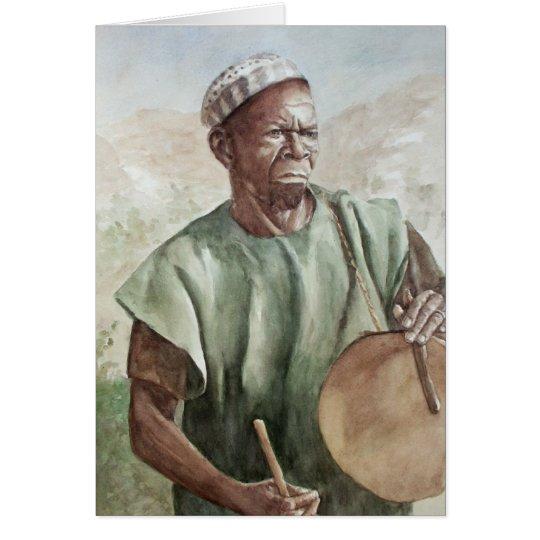 Dogon Drummer Card