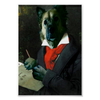 Dogoven, Dog Musician at Work Poster