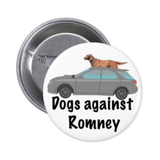 Dogs against Romney Buttons