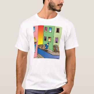 Dogs Ambush Mailman Cartoon T-Shirt