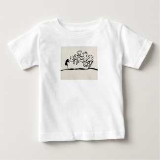 """Dogs and Boats""  Baby Jersey T-Shirt"