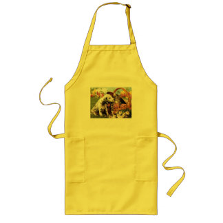 Dogs and cats do get along long apron