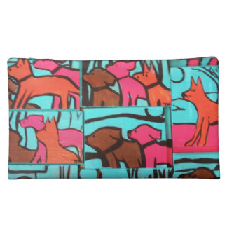 Dogs and Cats Painting Makeup Bags