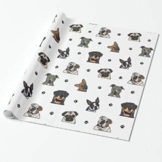 Dogs and Paws Wrapping Paper
