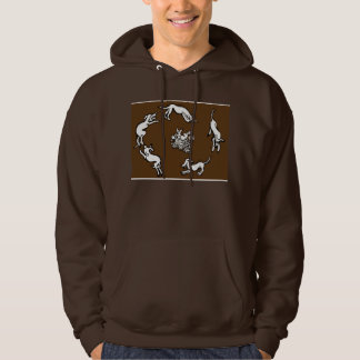 Dogs and rabbits hoodie