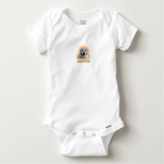 Dogs are better than human beings baby onesie