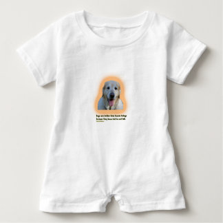 Dogs are better than human beings baby romper